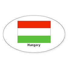 Hungary Hungarian Flag Oval Sticker (10 pk)