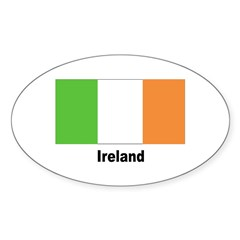 Ireland Irish Flag Oval Sticker (10 pk)