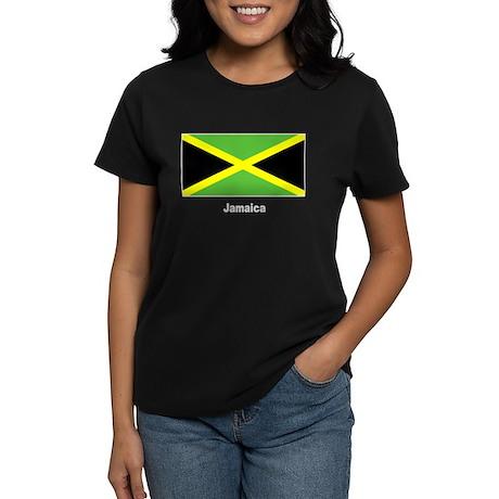 Jamaica Jamaican Flag Women's Dark T-Shirt