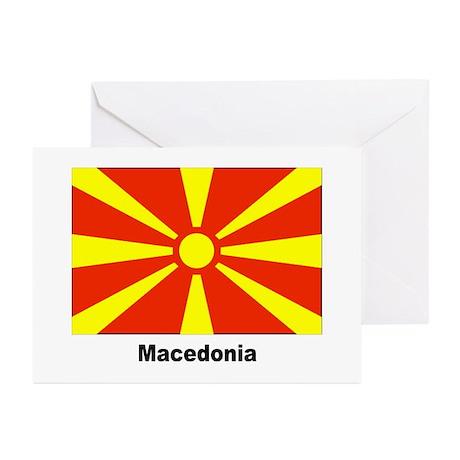 Macedonia Macedonian Flag Greeting Cards (Pk of 20
