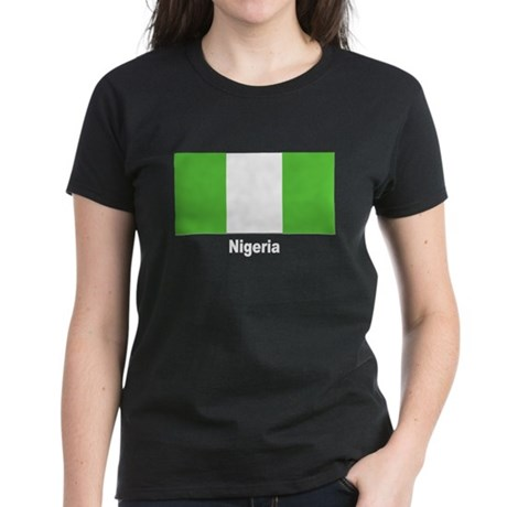 Nigeria Nigerian Flag Women's Dark T-Shirt
