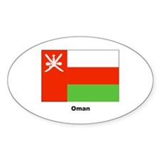 Oman Flag Oval Sticker (10 pk)