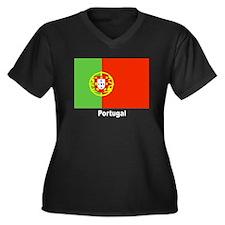 Portugal Portuguese Flag Women's Plus Size V-Neck