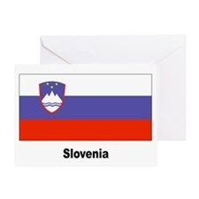 Slovenia Slovenian Flag Greeting Card