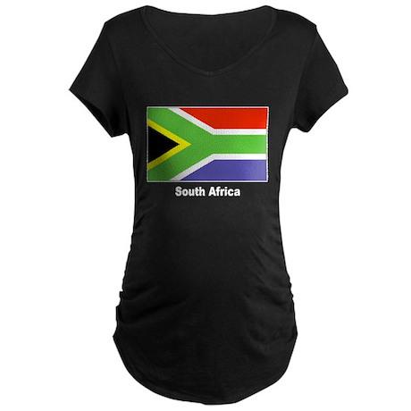 South Africa Flag Maternity Dark T-Shirt