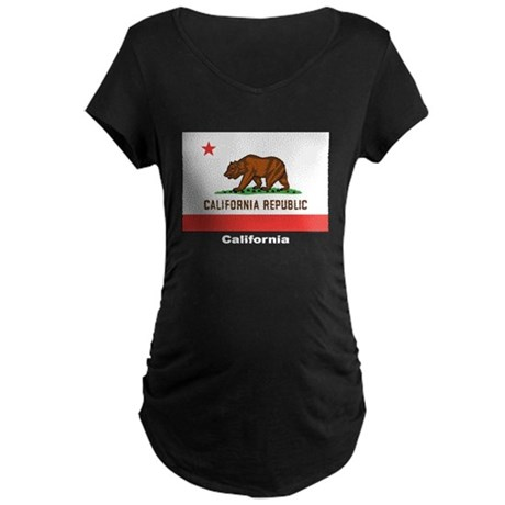 California State Flag Maternity Dark T-Shirt
