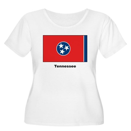 Tennessee State Flag Women's Plus Size Scoop Neck