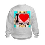 Express Your Passion For Shopping Kids Sweatshirt