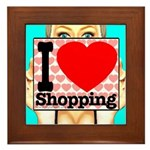 Express Your Passion For Shopping Framed Tile
