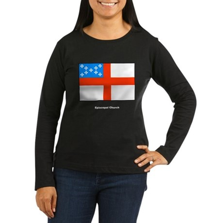 Episcopal Church Flag Women's Long Sleeve Dark T-S