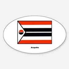 Arapaho Native American Flag Oval Sticker (10 pk)