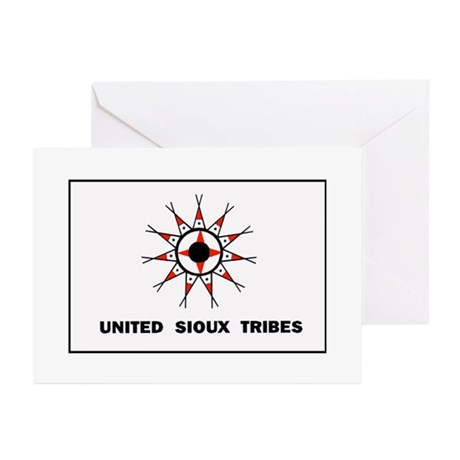 United Sioux Tribes Flag Greeting Cards (Pk of 20)