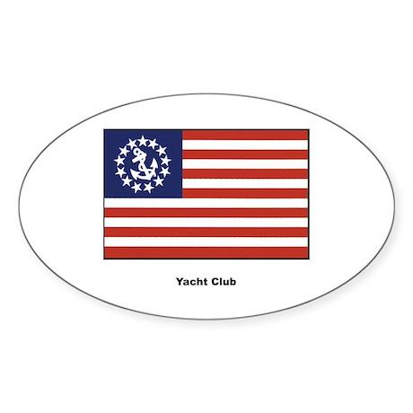 Yacht Club Flag Oval Sticker (10 pk)