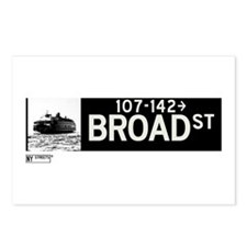 Broad Street in NY Postcards (Package of 8)