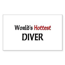 World's Hottest Diver Rectangle Decal