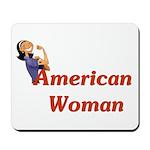 American Woman - Retro Lady Mousepad