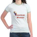 American Woman - Retro Lady Jr. Ringer T-Shirt