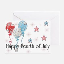 Happy Fourth of July - Balloo Greeting Card