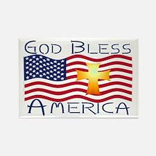 Rectangle Magnet-God Bless America!