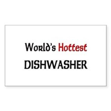 World's Hottest Dishwasher Rectangle Decal