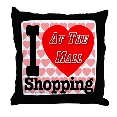 Promote Mall Shopping Throw Pillow