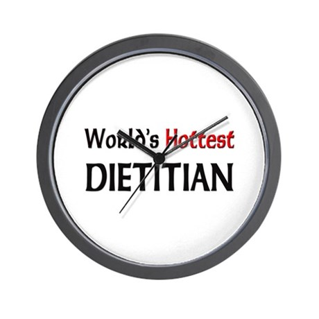 World's Hottest Dietitian Wall Clock