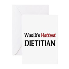 World's Hottest Dietitian Greeting Cards (Pk of 10