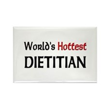 World's Hottest Dietitian Rectangle Magnet