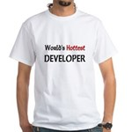 World's Hottest Developer White T-Shirt
