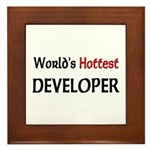 World's Hottest Developer Framed Tile