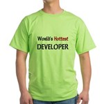 World's Hottest Developer Green T-Shirt