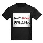 World's Hottest Developer Kids Dark T-Shirt