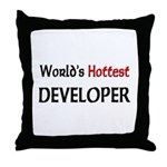 World's Hottest Developer Throw Pillow
