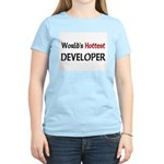 World's Hottest Developer Women's Light T-Shirt