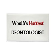 World's Hottest Deontologist Rectangle Magnet