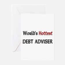World's Hottest Debt Adviser Greeting Cards (Pk of