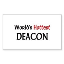 World's Hottest Deacon Rectangle Decal