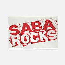 Saba Rocks Rectangle Magnet