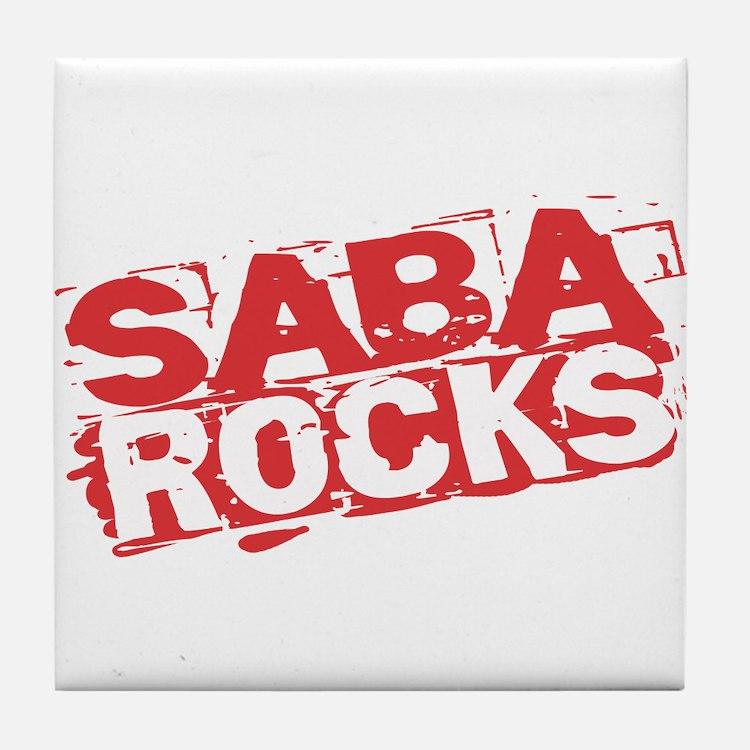 Saba Rocks Tile Coaster