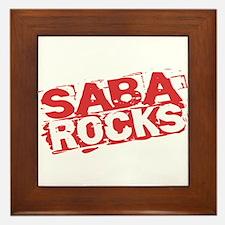 Saba Rocks Framed Tile