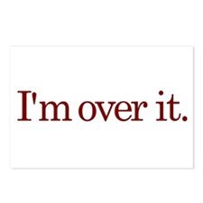 I'm Over It Postcards (Package of 8)