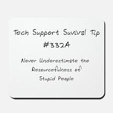 Tech Support Tip Mousepad
