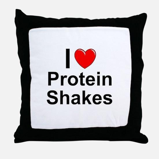 Protein Shakes Throw Pillow