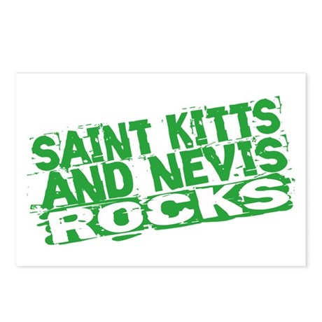 Saint Kitts and Nevis Rocks Postcards (Package of