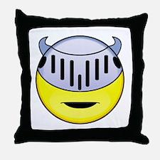 Smiley Knight Throw Pillow