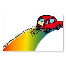 Road to Gay Marriage Rectangle Decal