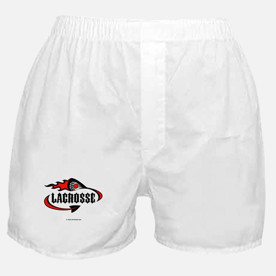 Lacrosse-Flaming Stick Design. Boxer Shorts