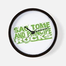 Sao Tome and Principe Rocks Wall Clock