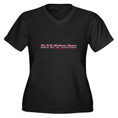 US Healthcare Tran Women's Plus Size V-Neck Dark T