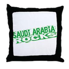 Saudi Arabia Rocks Throw Pillow